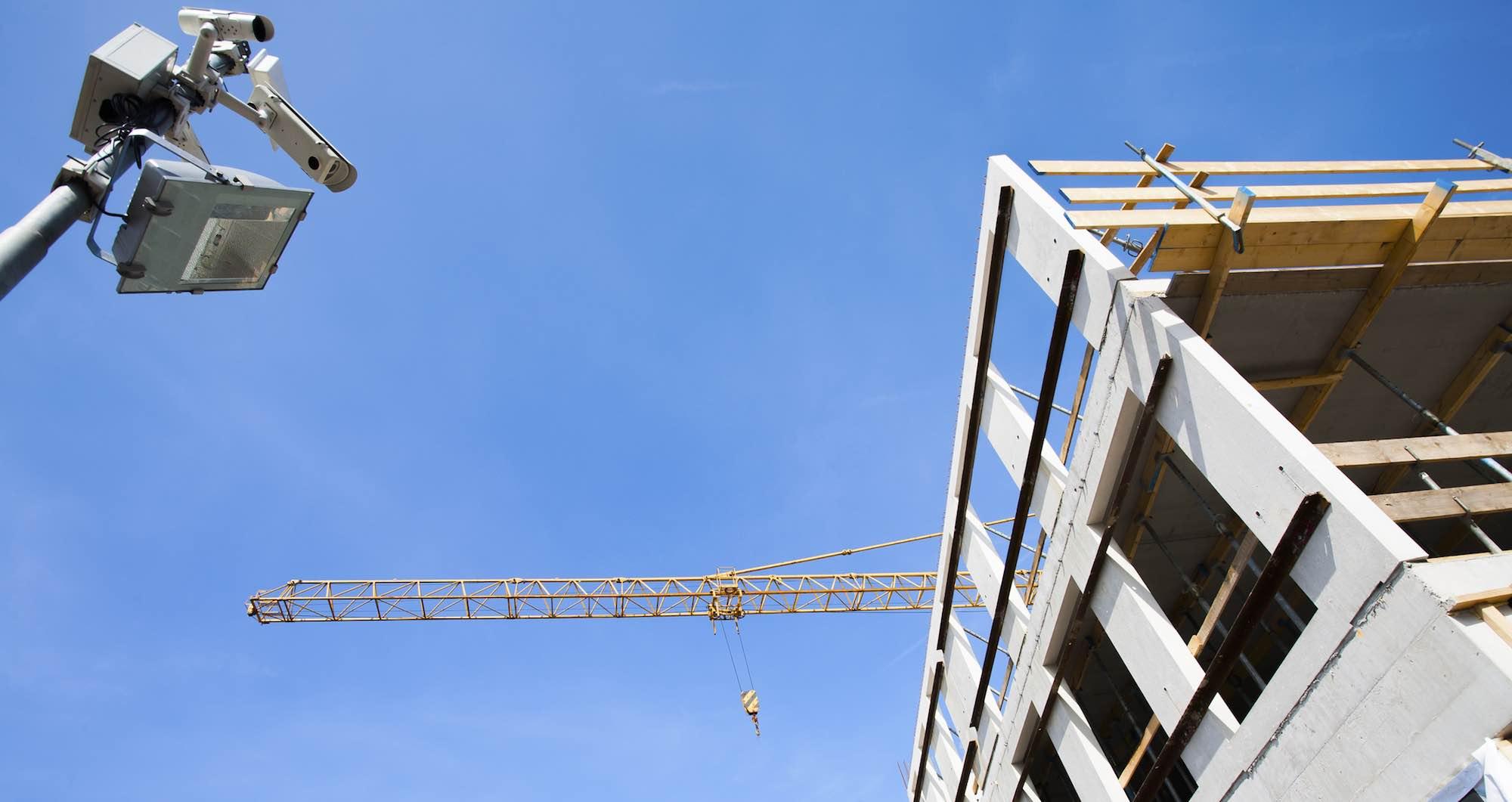 Baustellenüberwachung per Videoüberwachungsanlage von Wecee