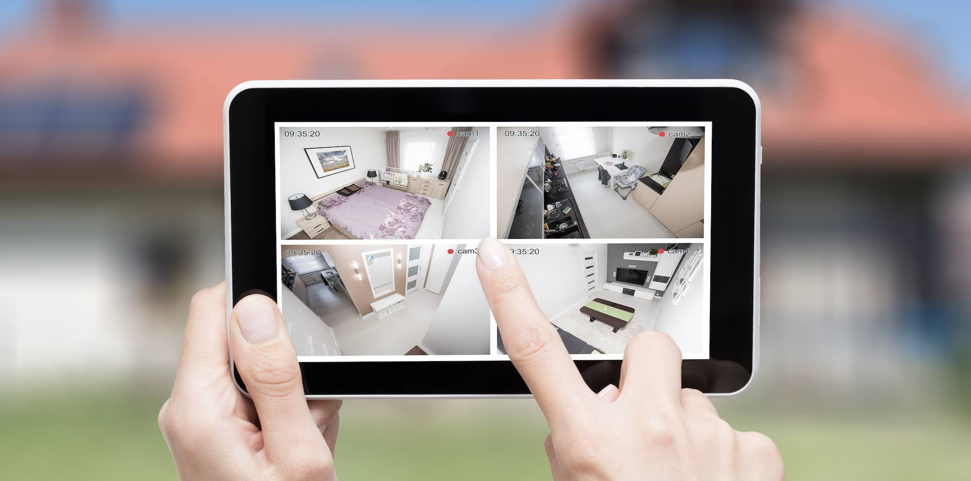 Videoüberwachung via Tablet im Innenraum