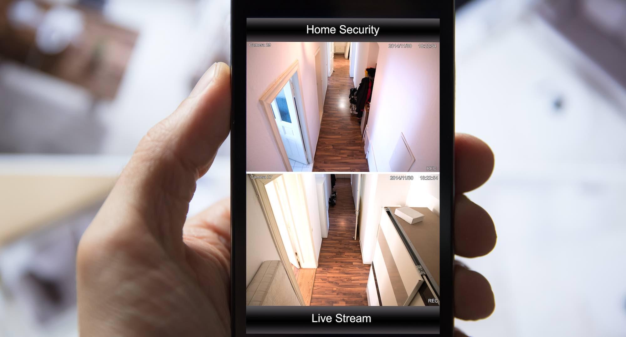 Überwachungssystem Räumlichkeiten, Steuerung und Kontrolle von unterwegs via Smartphone App